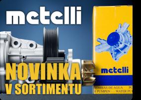 METELLI – brzdová hydraulika, homokinetické klouby a vodní pumpy Metelli.