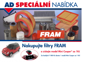 AD SPECIÁLNÍ NABÍDKA – Nakupujte filtry FRAM