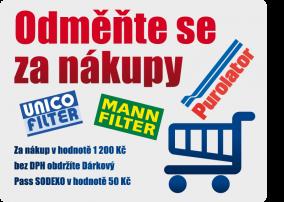 Odměňte se za nákupy filtrů – MANN, PUROLATOR, UNICO